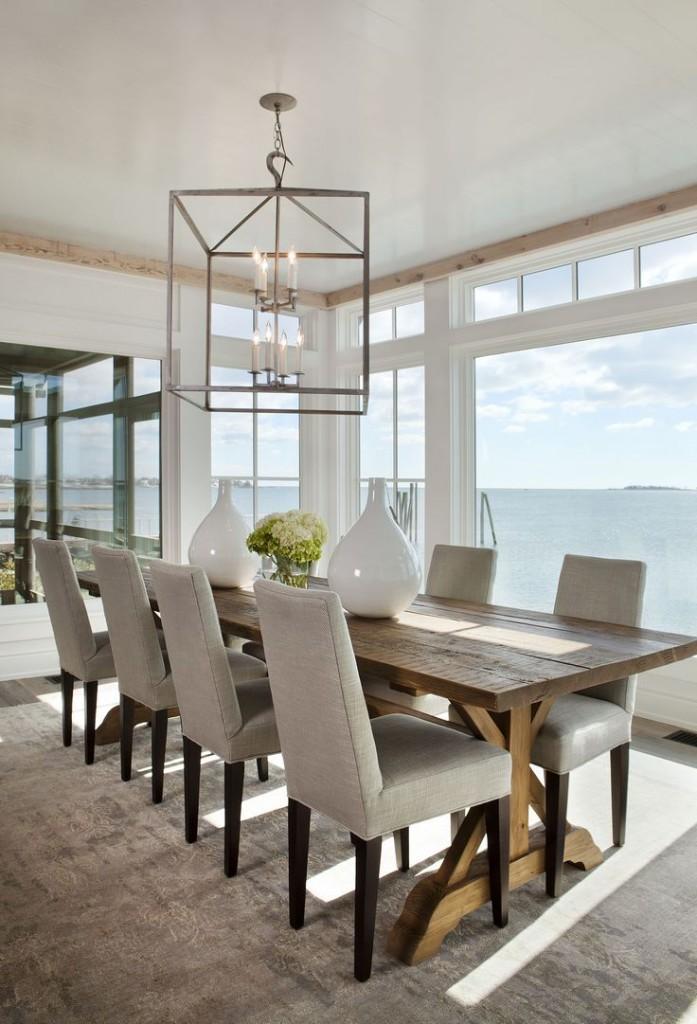 15 Cozy Coastal Dining Room Designs