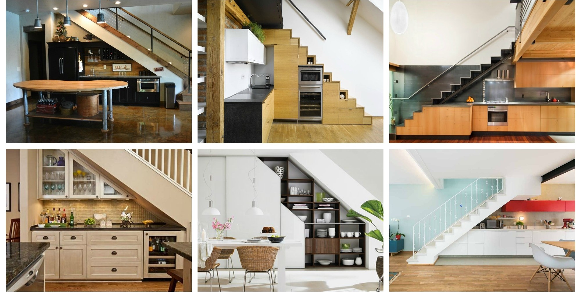 19 Space Saving Under Stairs Kitchens You Need To See | Kitchen Under Stairs Design | Cupboard | Living Room | Wet Bar | Basement Renovations | Staircase Storage