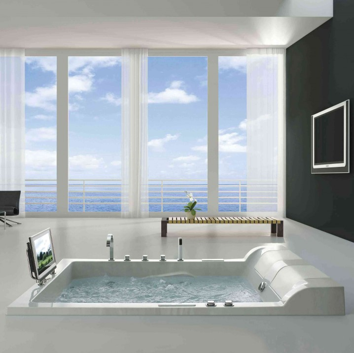 Exquisite Bathrooms With Floor To Ceiling Windows