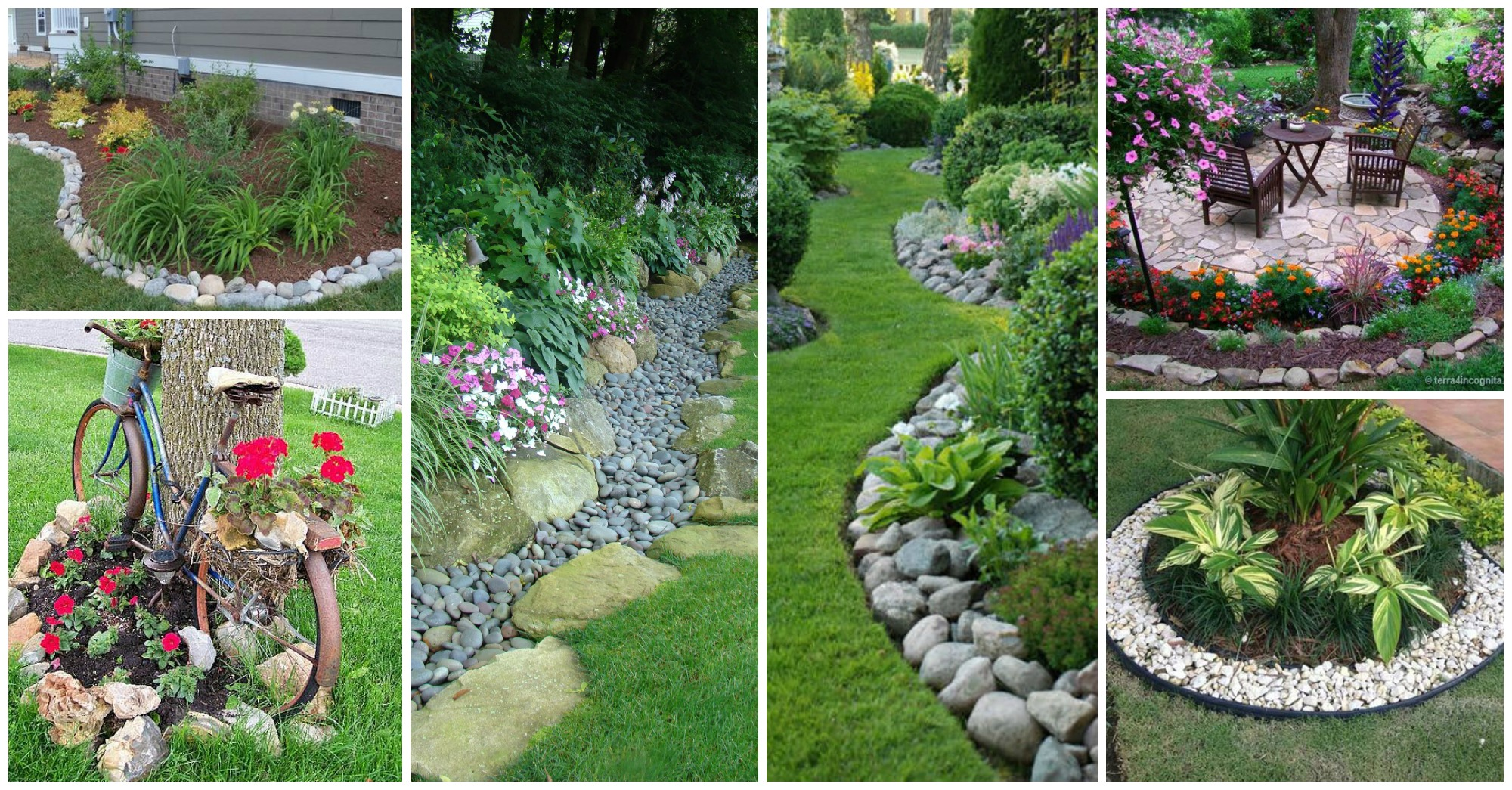 11 Impressive Garden Edging Ideas With Pebbles And Rocks