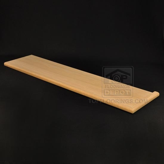 Top Floorings Depot Stair Tread Right Return 42 X 10 1 2 X 1 1 | 42 Oak Stair Treads | Stair Parts | Wood | White Oak Unfinished | Modern Retro | Lowes
