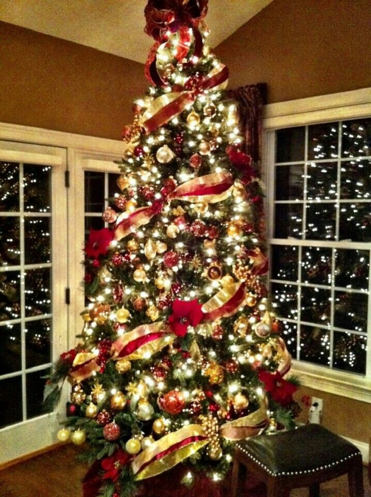 Christmas Home Accents Tree Flocked