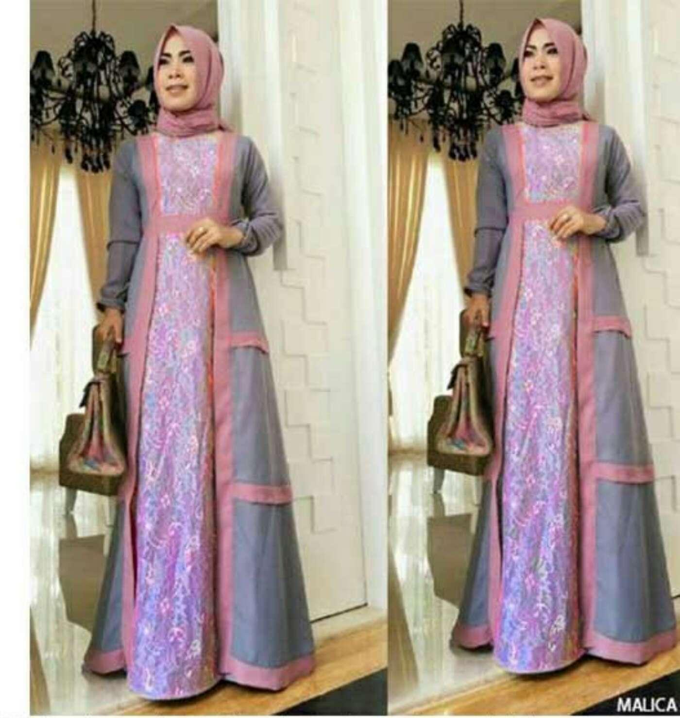 30 Model Baju Gamis Sasirangan Terbaru: 30+ Model Gamis Brokat Abu Abu