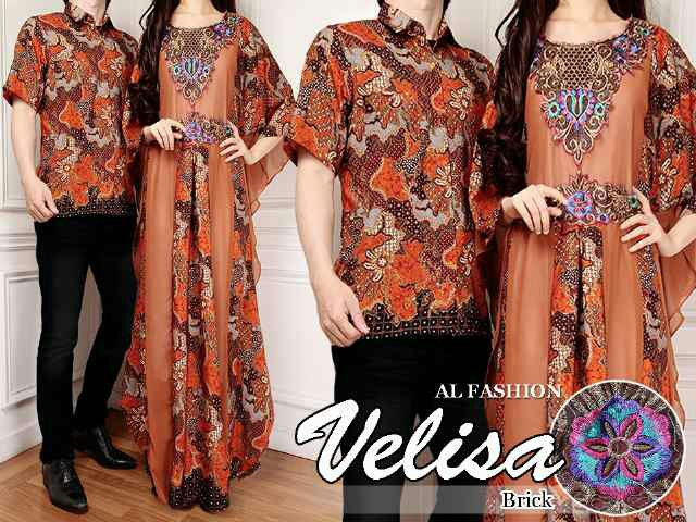 Model Baju Batik Gaun Couple 28
