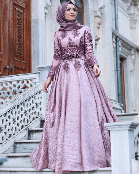 Model Baju Gamis Long Dress Muslim Pesta Modern Terbaru