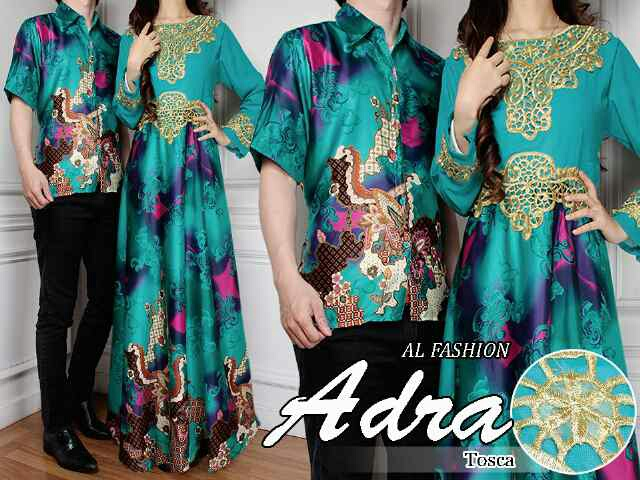 Model Baju Batik Couple Motif Batik Long Dress Terbaru