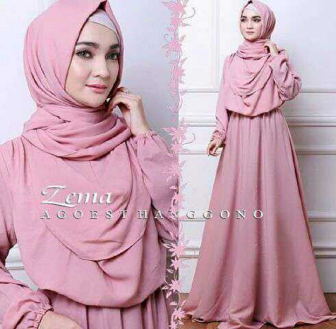 Gamis Long Dress Muslim Modern Terbaru Dan Modis  F F  D Model