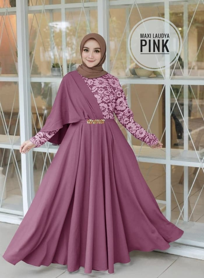 Model Baju Renda Warna Pink 19