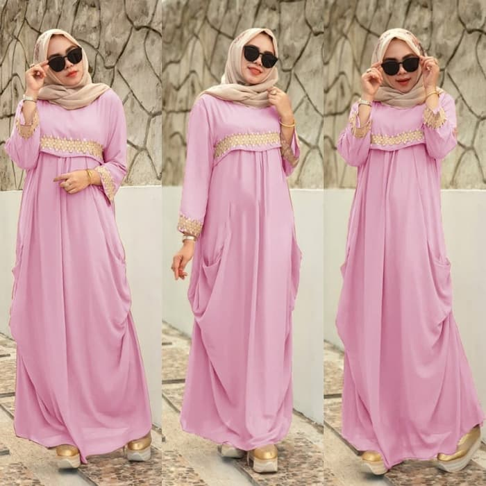 Model Baju Renda Warna Pink 29