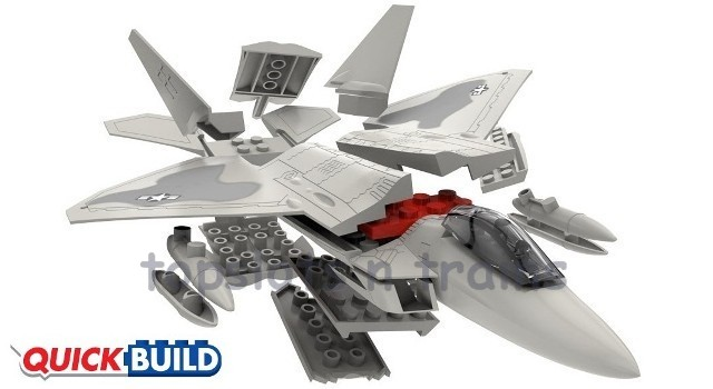Airfix Quick Build F22 Raptor Lego Style Fast Kit TopSlots n Trains Airfix J6005 Quick Build Model   F22 RAPTOR FAST KIT