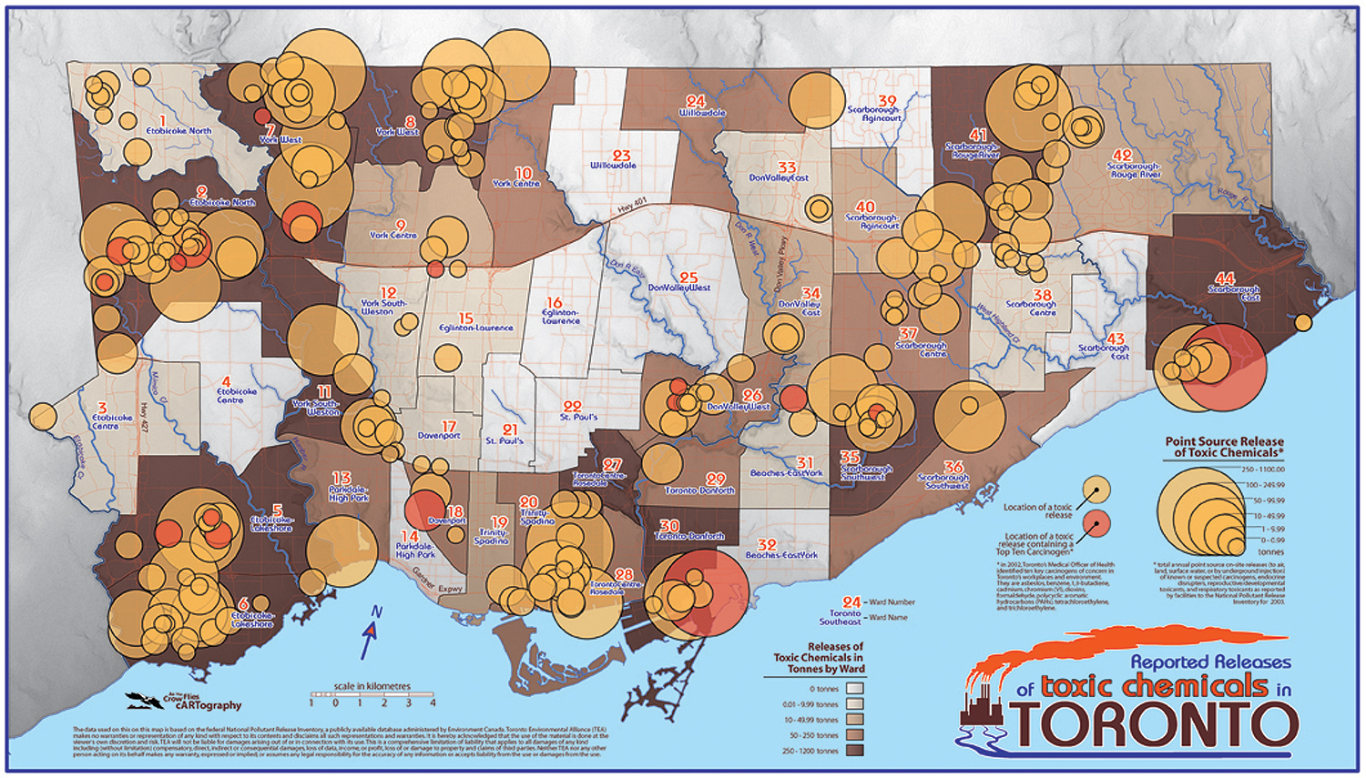 Toxics in Toronto Map  2003    Toronto Environmental Alliance Download entire map or