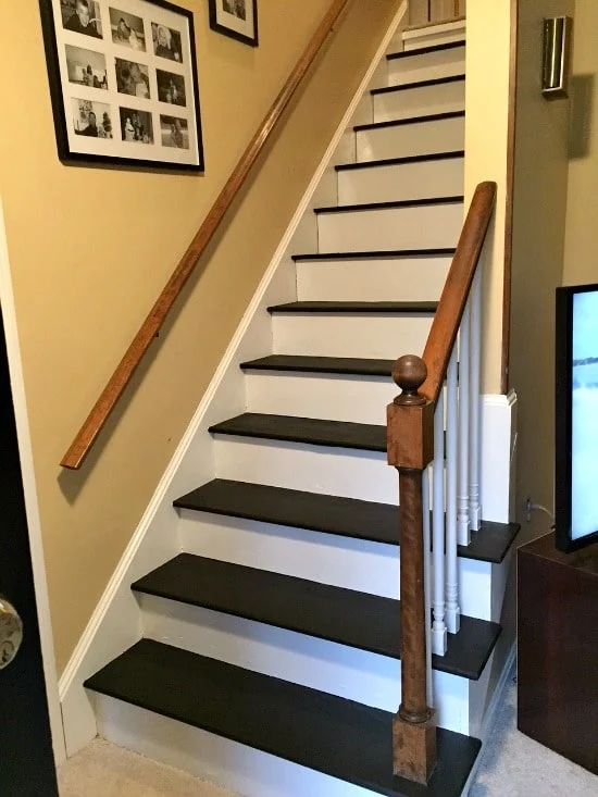 How To Remove Carpet From Stairs And Paint Them   Carpet Strips For Steps   Curved Stair   Striped   Gorgeous   Stairway   Middle Stair