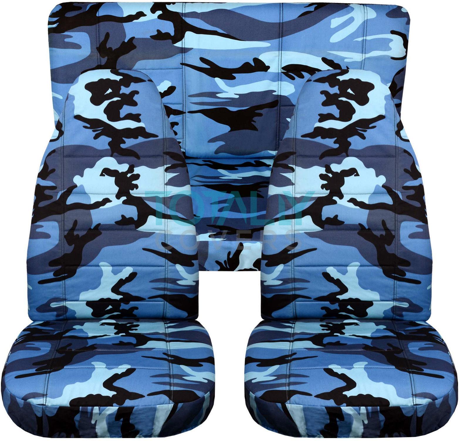 Blue Realtree Camo Seat Covers