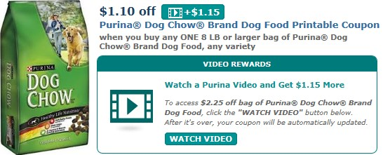 Coupons Chow Print Puppy