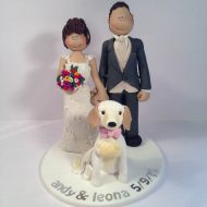 Family   Pet Cake Toppers   Totally Toppers com This couple s dog had to be part of the wedding