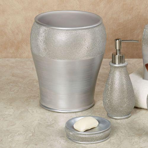 Grey Silver Bathroom Accessories
