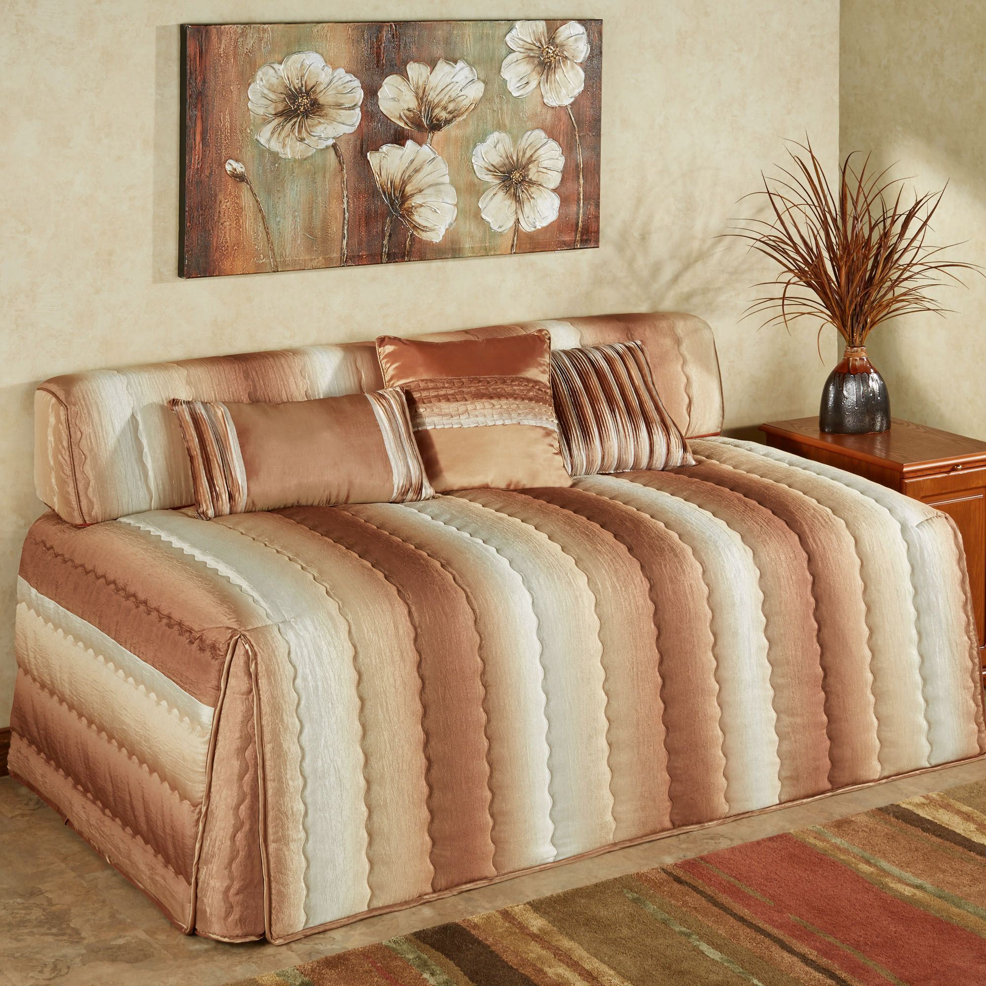 Mirage Ombre Striped Quilted Hollywood Daybed Cover