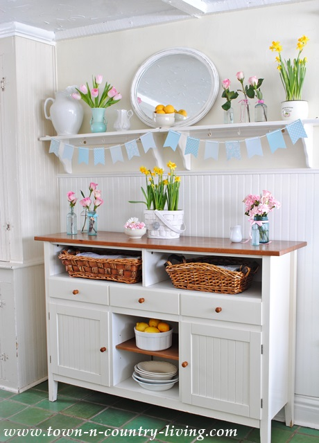Spring Decorating In A Farmhouse Kitchen Town Amp Country
