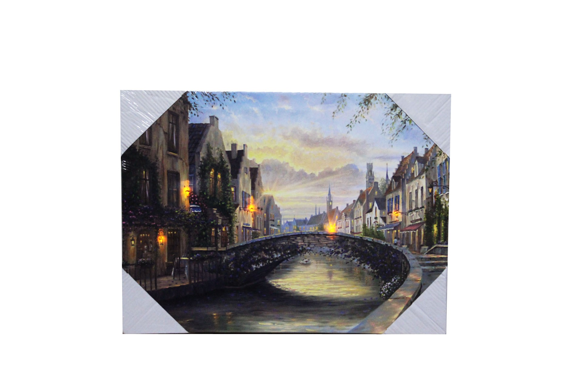 Flickering Lights Canvas Art