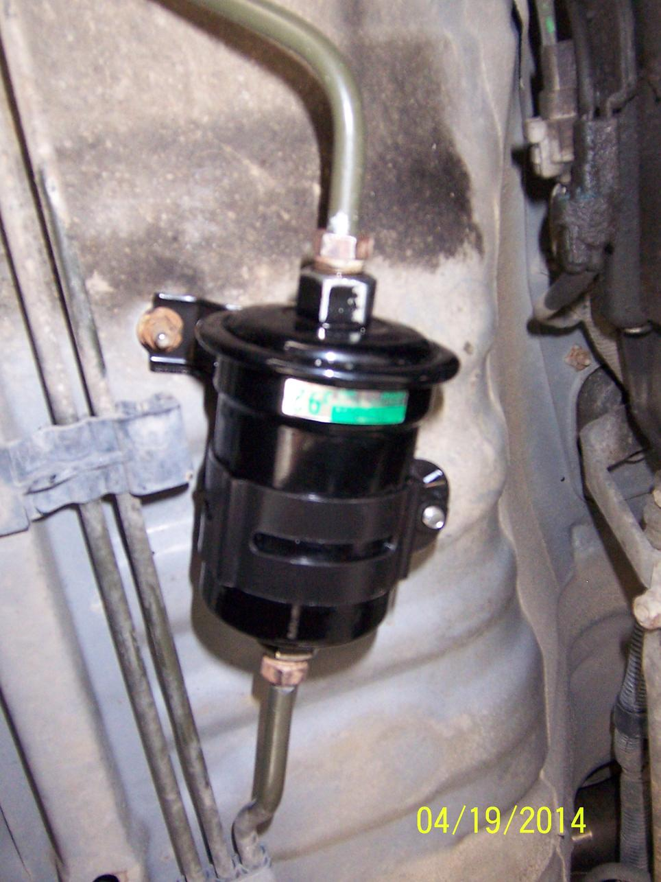 1998 Toyota Camry Fuel Filter Location