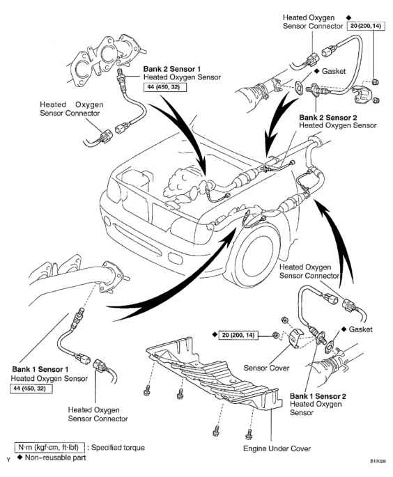Toyota Tundra Bank 2 Sensor 2 Location