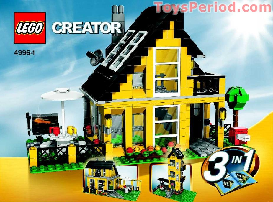 LEGO 4996 Beach House Set Parts Inventory and Instructions   LEGO     Beach House Free Instruction Page 1