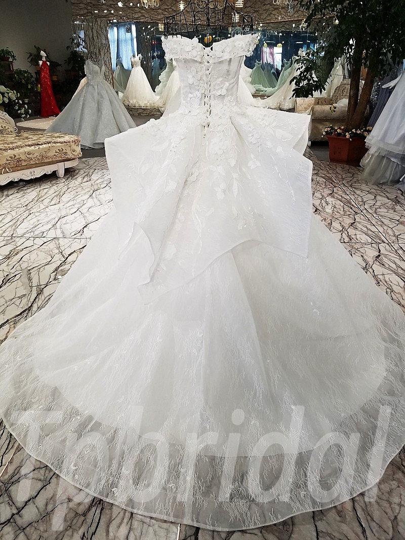Off Shoulder Wedding Dresses Ball Gown Princess Bridal Dress