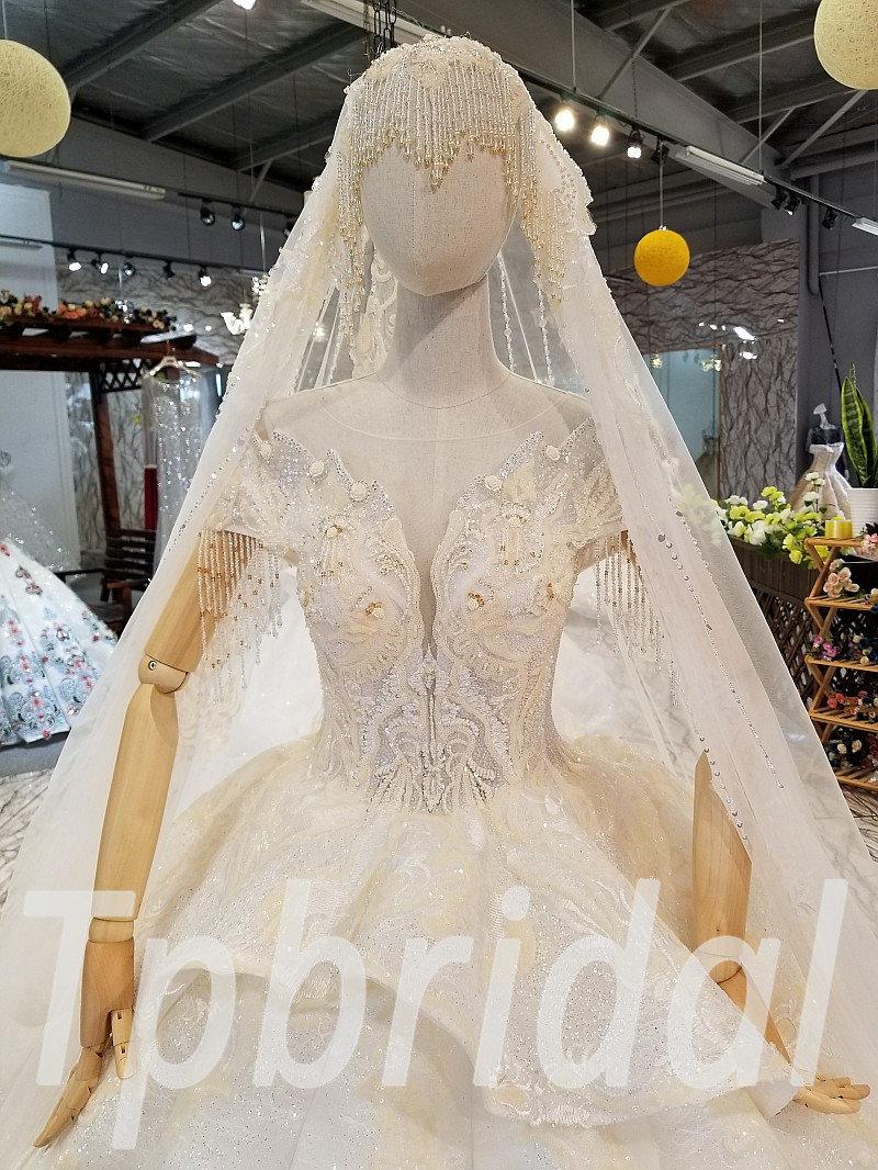 Wedding Dress With Veil 0327 07