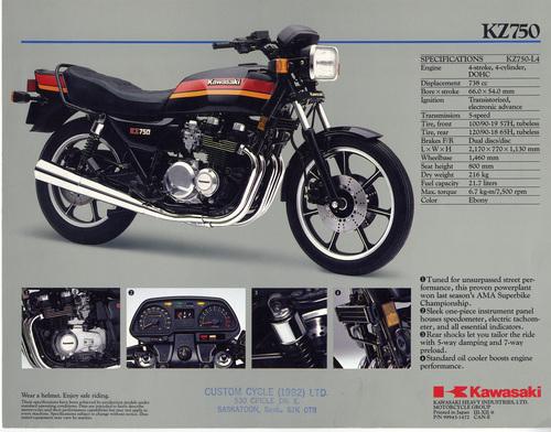 1982 Kz750 Kawasaki Ltd 750 H3