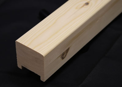 Newark Pine Square Handrail Stair Rail | Square Handrail For Stairs | Balustrade | Outdoor | Hand Rail | Low Cost | Residential