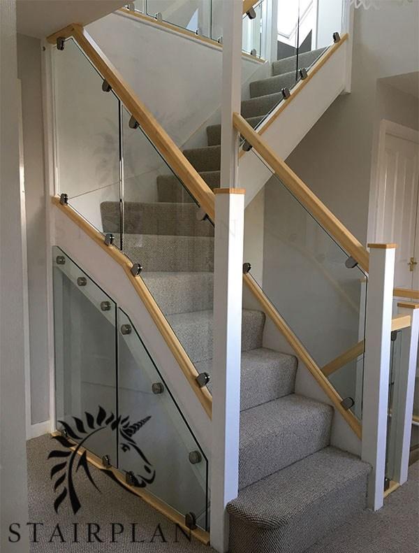 Glass Balustrade Panels Design Order Online Toughened Glass   Glass Panel Stair Railing   Toughened   Square   Framed Glass   Staircase   Banister