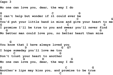 No One Could Love You Like I Do Lyrics - gaurani.almightywind.info