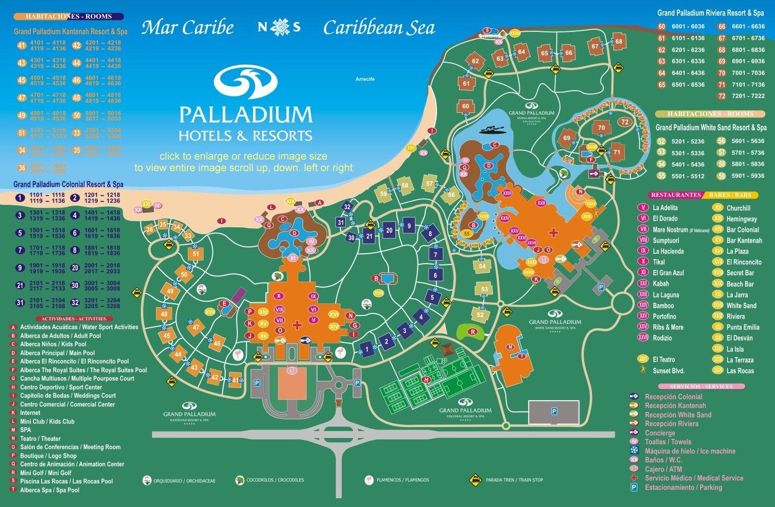 Map Barcelo Maya Cancun Mexico