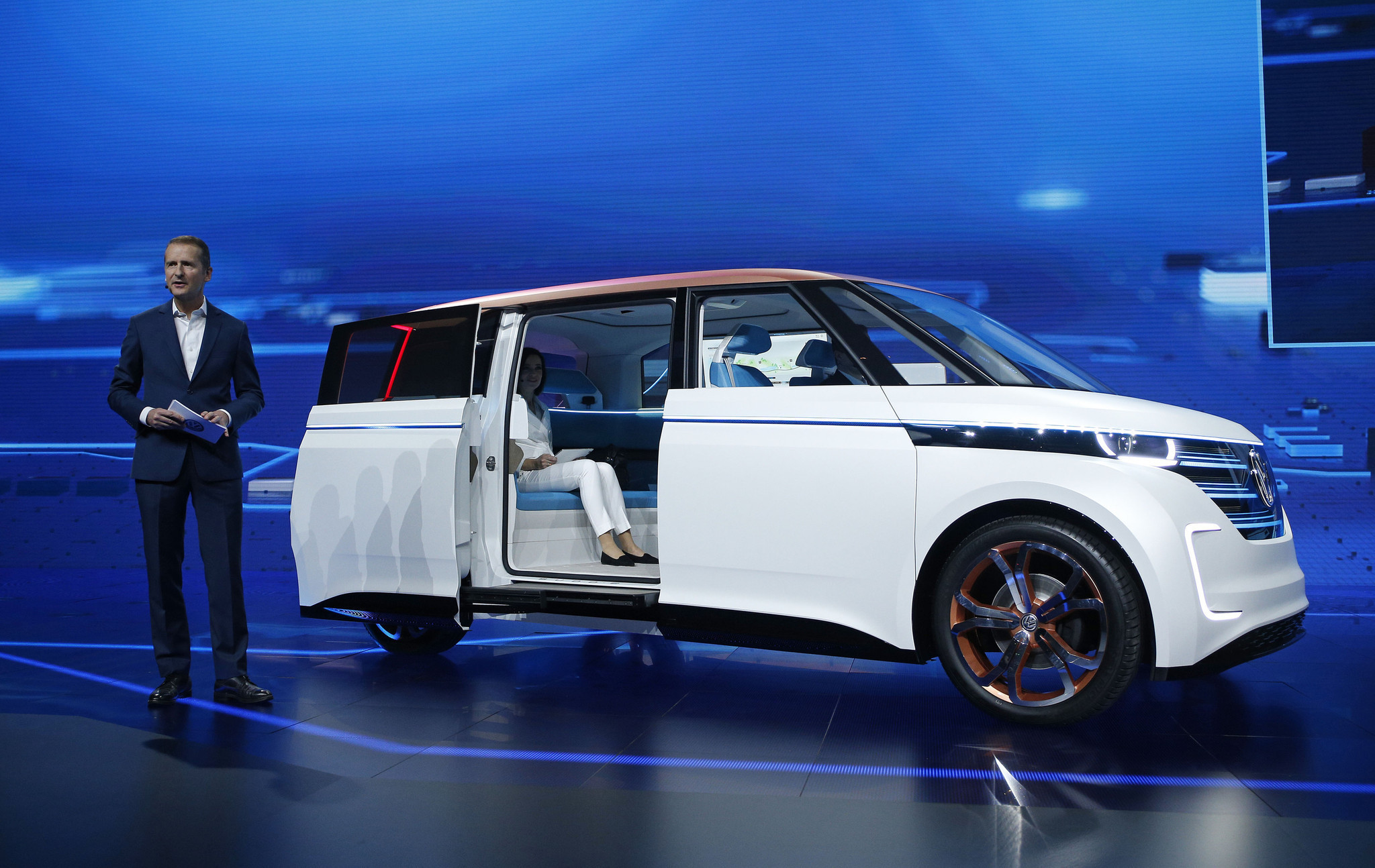 Volkswagen Budd E All Electric Microbus Concept Chicago