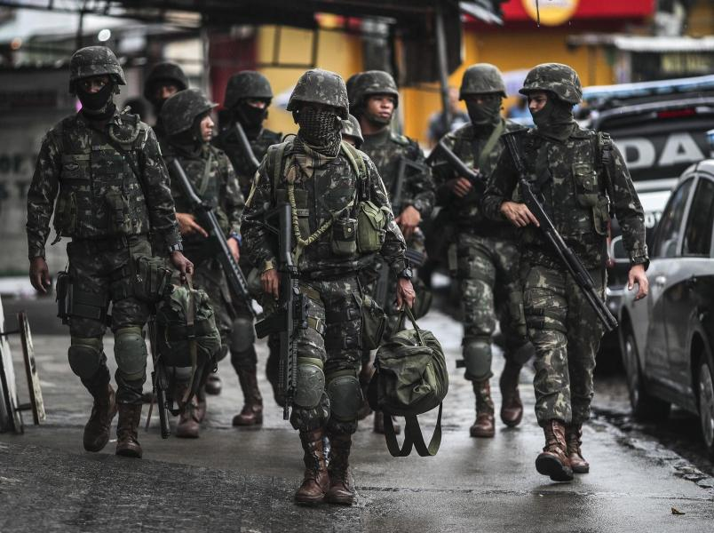 Brazil called up the military to control violence in Rio de Janeiro     Military controls in Rio de Janeiro against organized crime  Brazil   23  Feb 2018