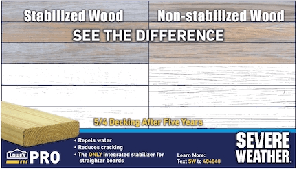 Severe Weather Treated Lumber Has An Integrated Stabilizer That   Lowes Pressure Treated Stair Treads   Railing   Stair Risers   Treated Lumber   Treated Wood Stair   Deck Stairs