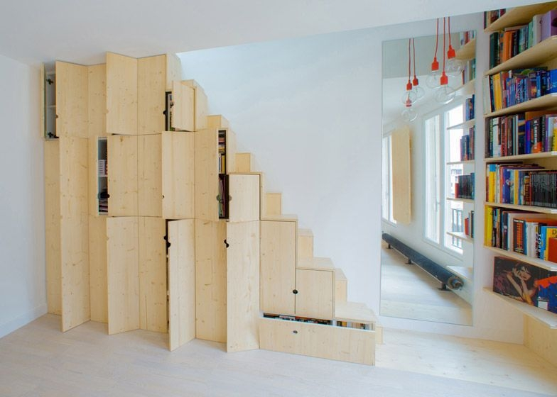 Stair Of The Week Alternating Tread Stair Design Is Also A   Alternating Tread Stair Design   Staggered   Style   Wood   Multipurpose   Double Thickness Tread