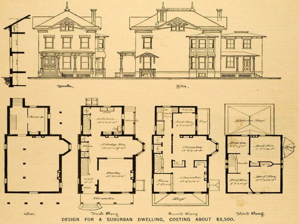 Queen Anne Victorian Home Plans