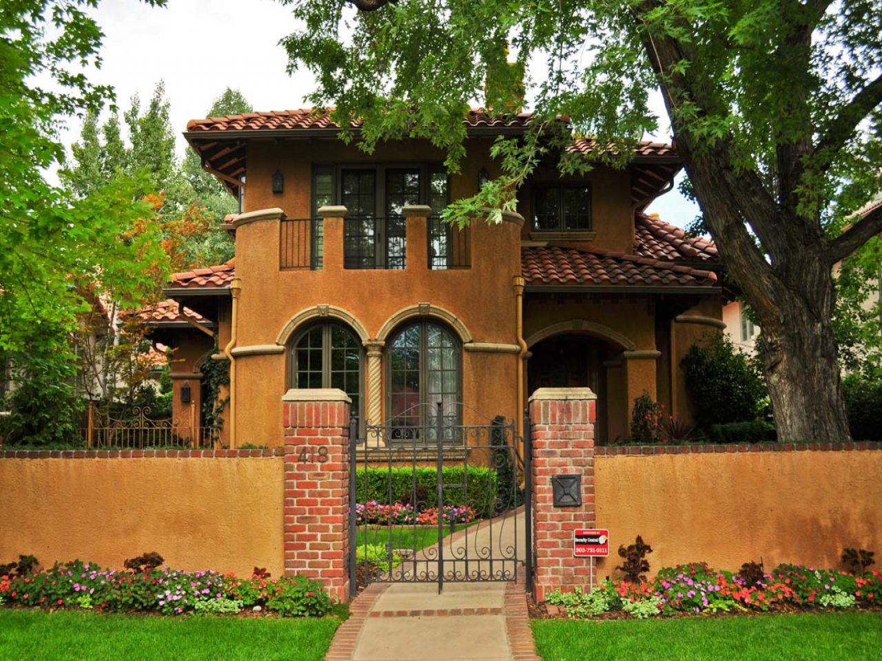 Small Spanish Style Homes Metal Roof Spanish Style Ranch