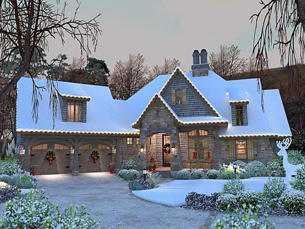French Country Cottage House Plan Craftsman 75134 French