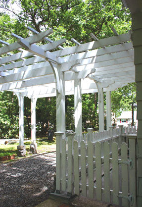 Attached Pergola No Ap4 By Trellis Structures