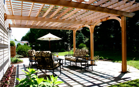 Attached Pergola No Ap8 By Trellis Structures