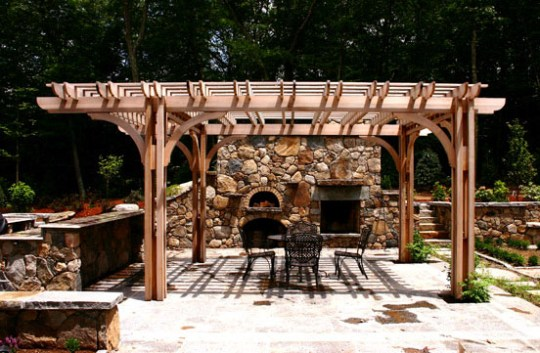 Outdoor Kitchen Pergola No  KP4   by Trellis Structures Outdoor Kitchen Pergola No  KP4a