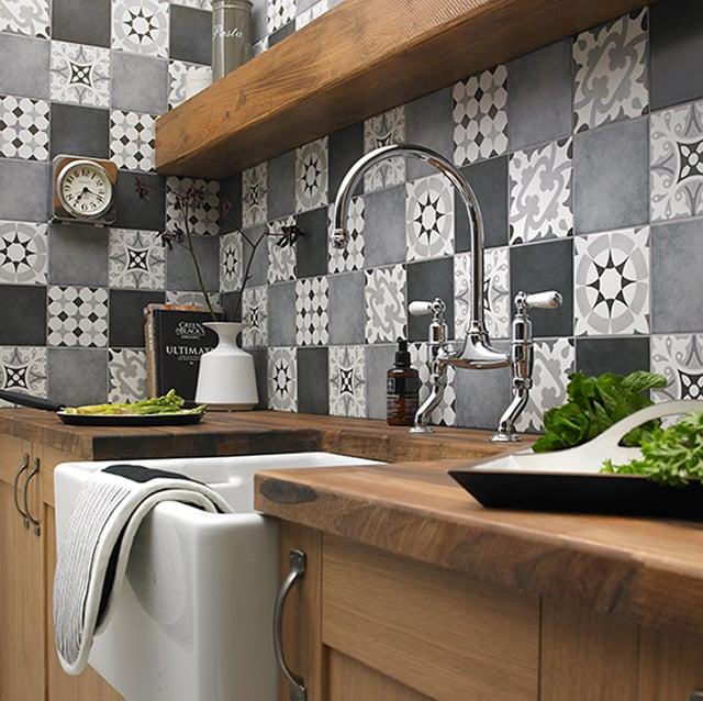 Patchwork Patterns White Black And