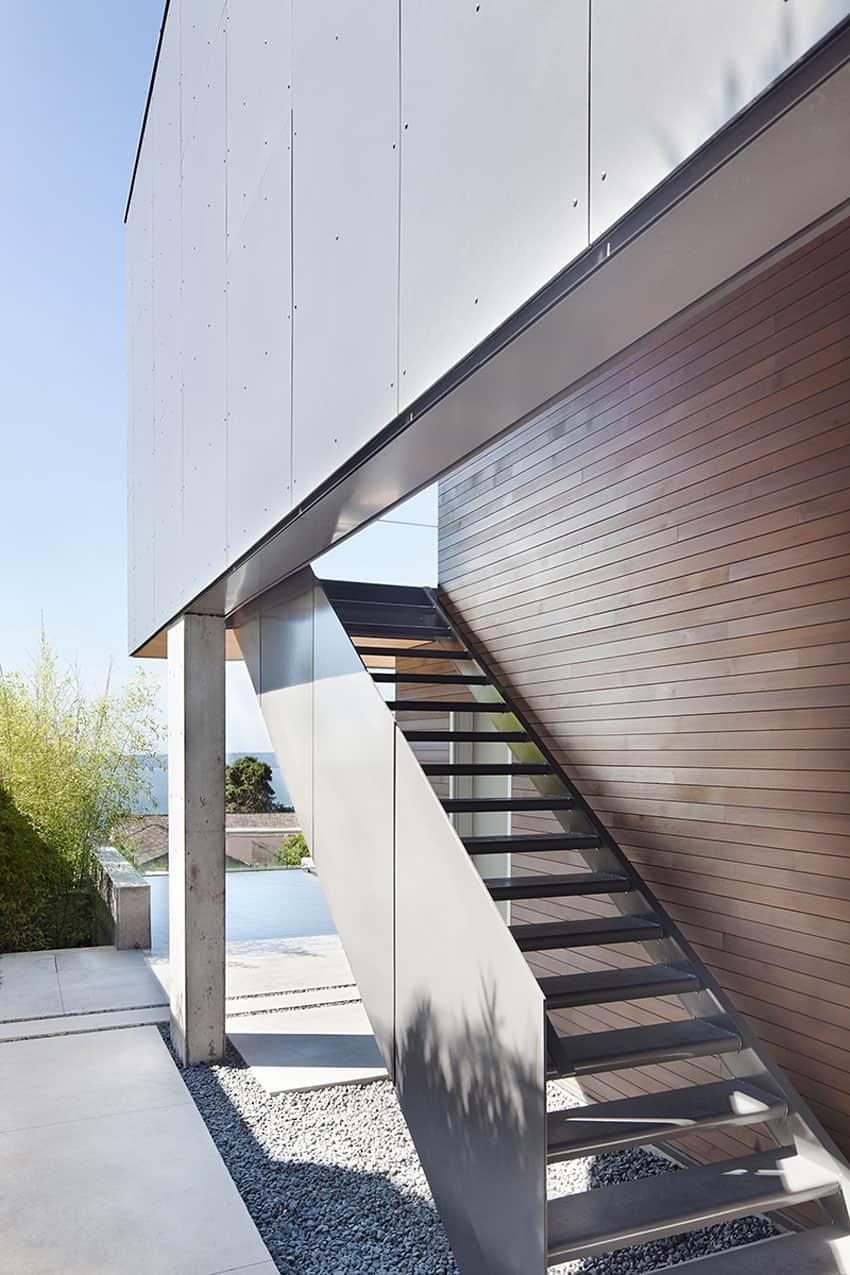 Sleek Sl*P* House With Interior Featuring Concrete | Outside Stairs Design For House