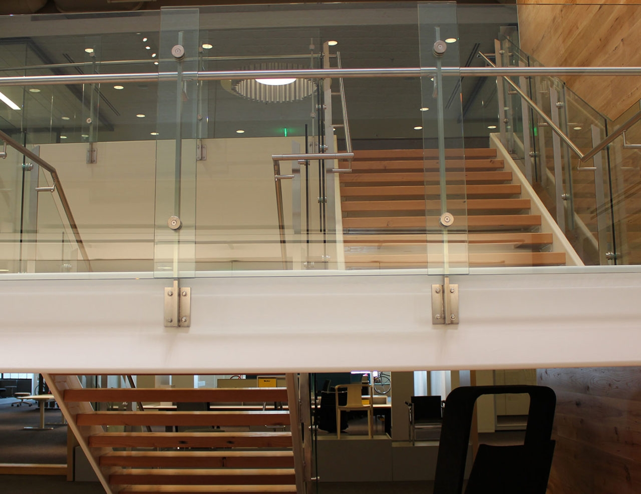 Stainless Steel With Glass Railing Price Modern Trex | Stainless Steel Staircase Price | Iron | Helical Staircase | Small Steel | Black Steel | Spiral