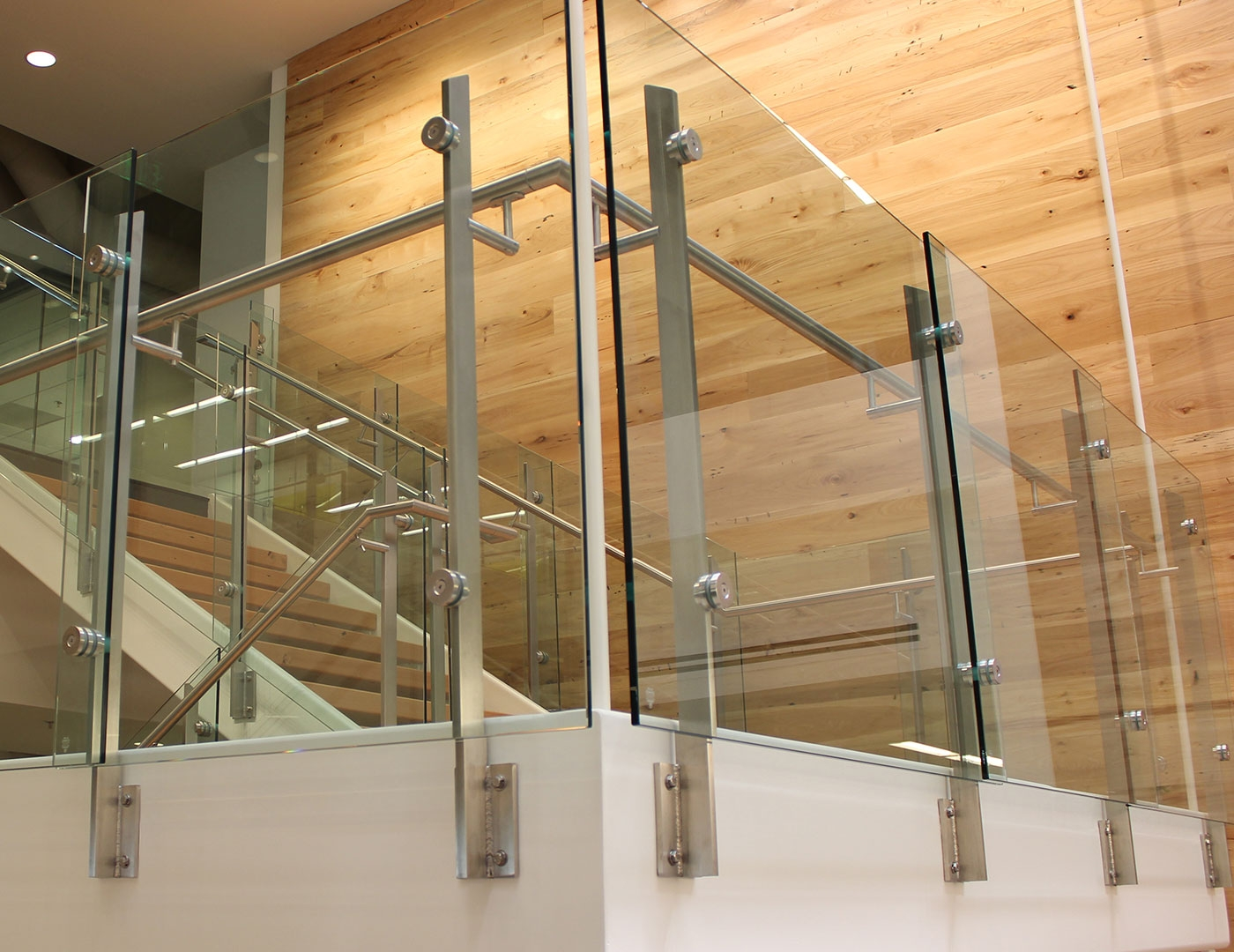 Stainless Steel With Glass Railing Price Modern Trex | Glass Railing For Stairs Price | Curved Glass Balustrade | China | Spiral Staircase | Frameless Glass | Cable Railing
