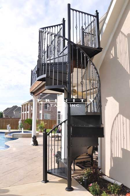 Spiral Stairstrinity Stairs   Exterior Spiral Staircase For Sale   Roof   Outside   Unique Outdoor   Brick Outdoor   Backyard