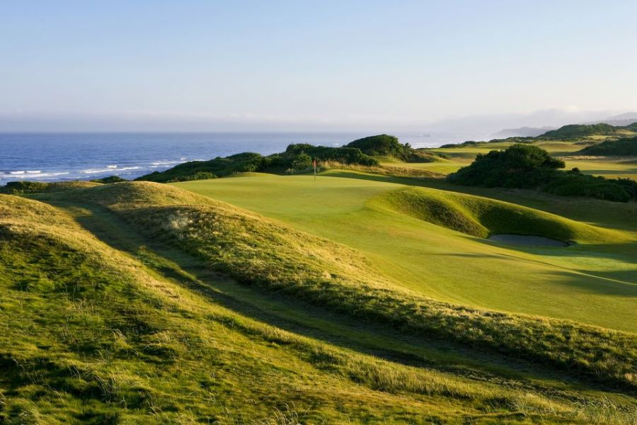 Top Golf Vacation Destinations in the Northwest US 15th Hole on the Bandon Dunes Golf Course