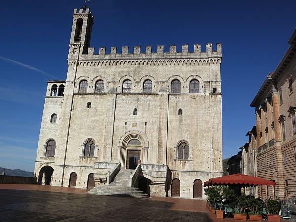 Gubbio Is An Umbrian Hill Town In Italy